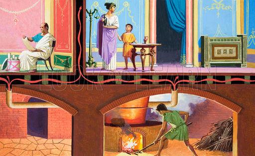Roman Heating System Layout